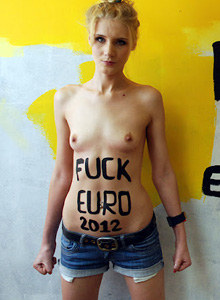 Femen tried to steal UEFA cup