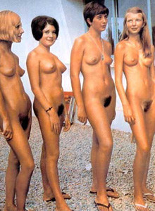 Young, hairy retro nudists