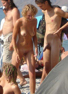 Nudists from the nude beach