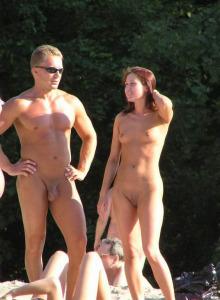 Nude beach nudists