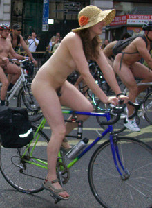 Cycling nudists