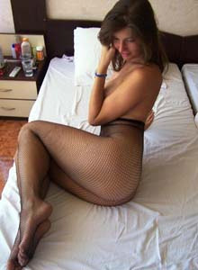 Roxanne gf wears net nylon at home