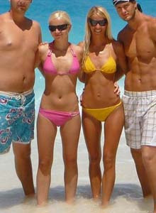Beautiful young sexy gf Olya in yellow bikini is ready for nasty things