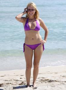 Jewel Kilcher in purple bikini