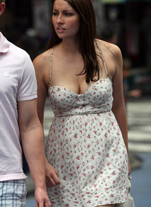 Sexy busty candid chicks