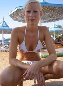 Teen beach gf in white bikini