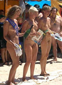 Nudists beach competition featuring sexy nude girls