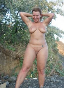 Busty naturist