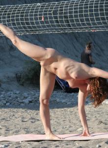 Busty gymnast