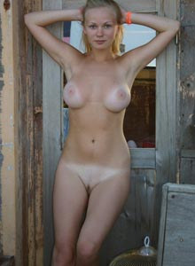 Amazing innocent young busty Ukrainian hottie with hairy pussy