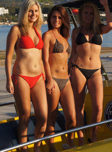 Topless bikini hotties in San Antonio cruise
