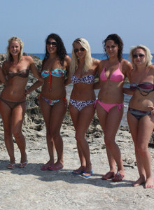 Bexley bikini girls on the beach