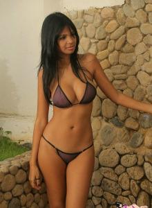 Big boobs beauty Karla in sexy wet bikini
