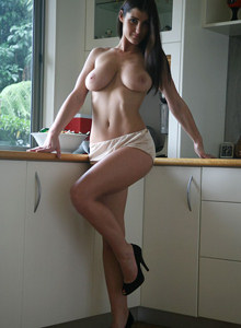 Hot busty raven girl
