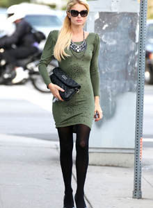 Paris Hilton leggy at chiropractic office in Los Angeles(candid)
